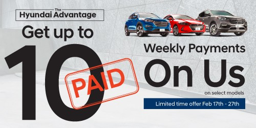 Get up to 10 weekly payments on us.
