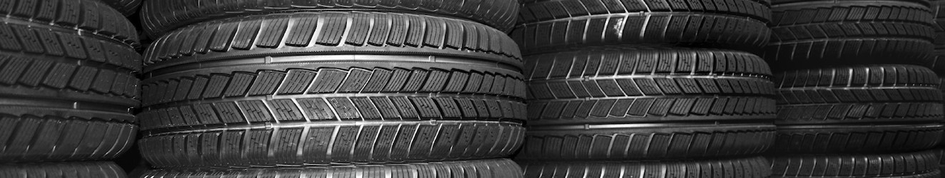 Store room full of new car tyres