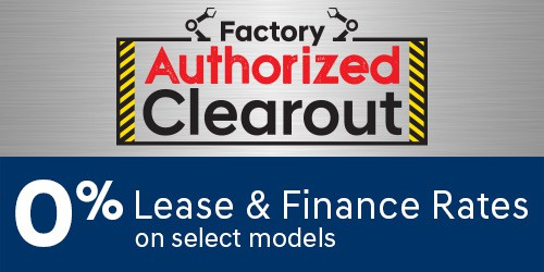 Factory Authorized Clearout